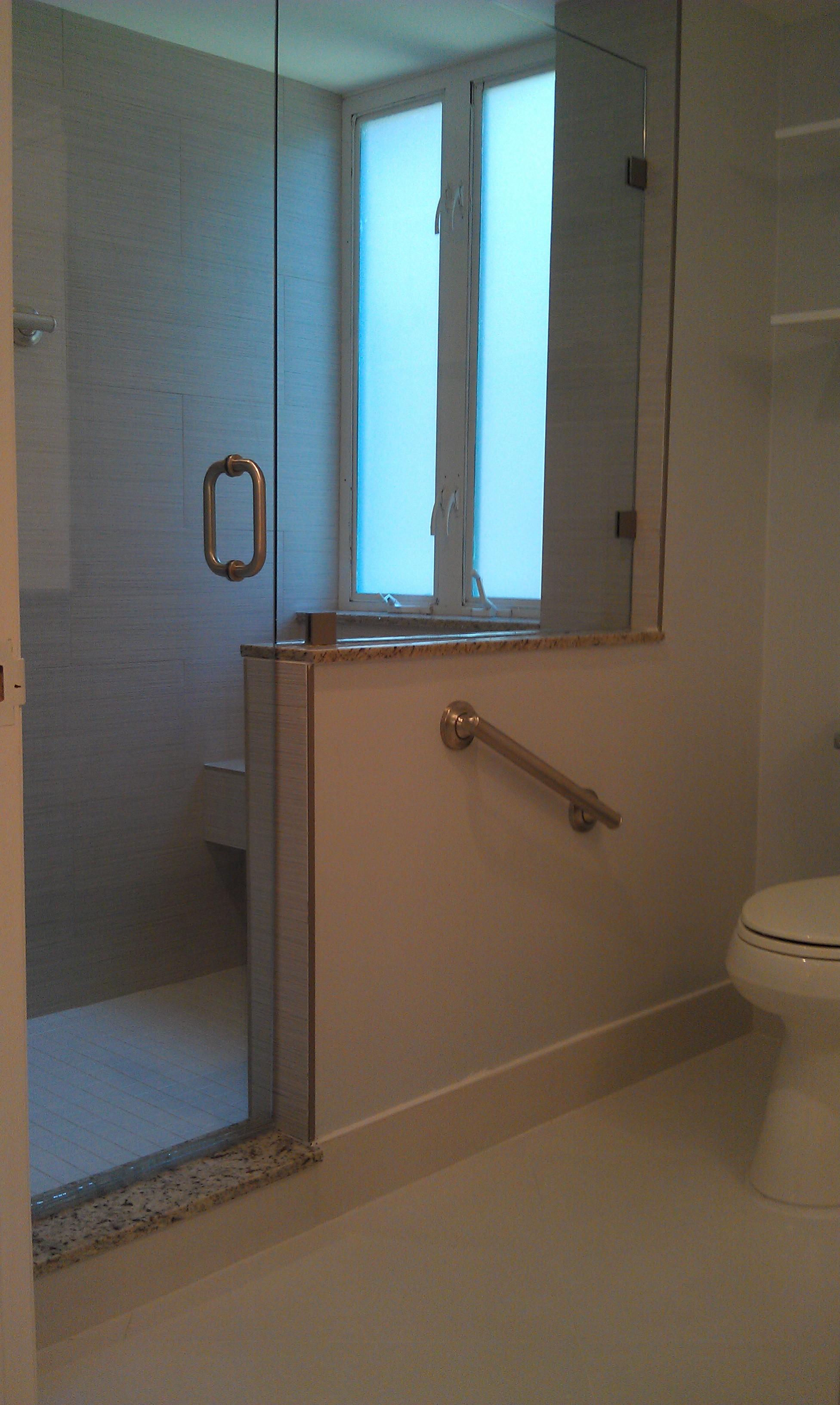 Master Bathroom Mizner Village Boca Raton